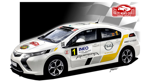 opel ampera partecipa al rally di montecarlo greenstart. Black Bedroom Furniture Sets. Home Design Ideas
