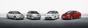 Le quattro versioni della Toyota Prius a confronto