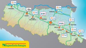 Le colonnine di ricarica previste nel piano di sviluppo della mobilità elettrica nella regione Emilia-Romagna