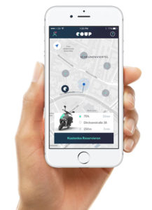 App scooter sharing Berlino Bosch Coup