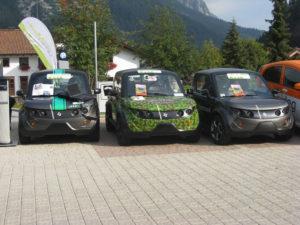 Le auto elettriche Tazzari, partecipanti alla scorsa edizione