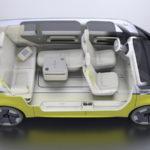 L'interno dell'abitacolo di Volkswagen ID Buzz è modulable