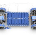 La trazione di Volkswagen ID Buzz può essere anche integrale oltre che posteriore grazie ai due motori elettrici a bordo