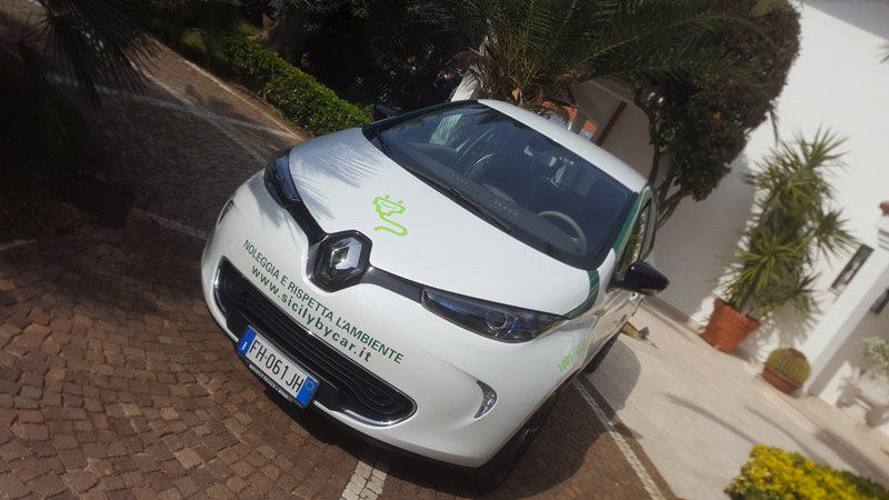l 39 ecotour della sicilia a zero emissioni con renault zoe di sicily by car. Black Bedroom Furniture Sets. Home Design Ideas