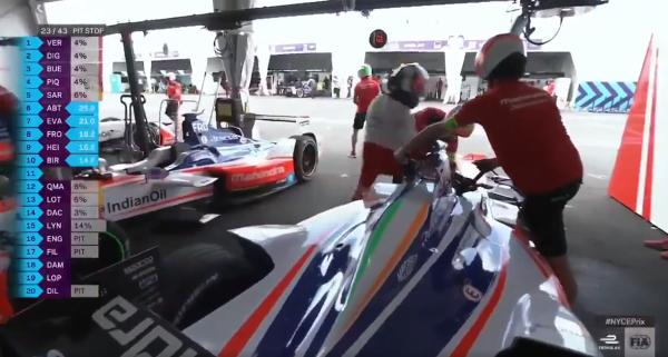 Ultimo cambio in Formula E
