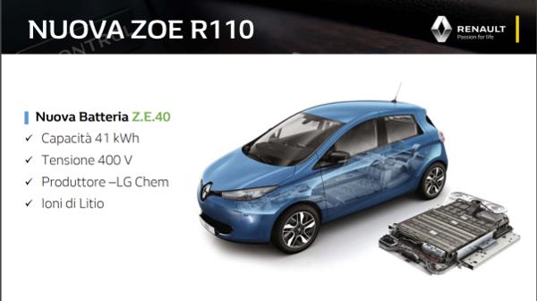 I dettagli della batteria Renault Zoe R110