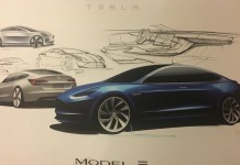 Design-bozzetto-Tesla- Model-3