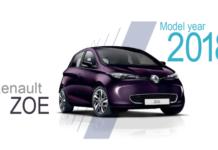Gli esterni della Renault Zoe nella grafica di lancio del modello con motore R110