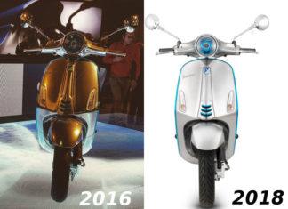 La Vespa elettrica anticipata nel 2016 e quella che verrà messa in commercio sono quasi identiche.