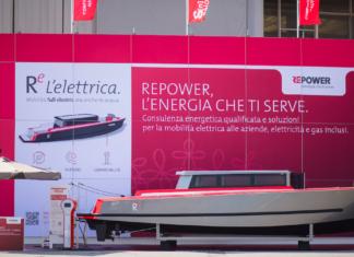 Repower-e, versione coperta del natante full electric dell'azienda svizzera