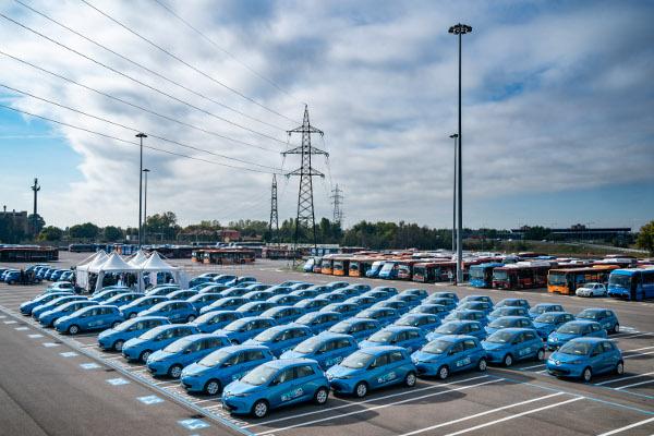 Un quarto della florra di Renault Zoe che a regime opererà sul territorio di Bologna.