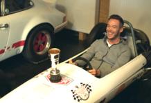 Lotterer in un'auto dei tempi di Lauda