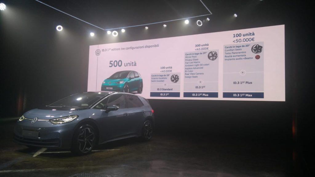 prezzi Volkswagen ID.3