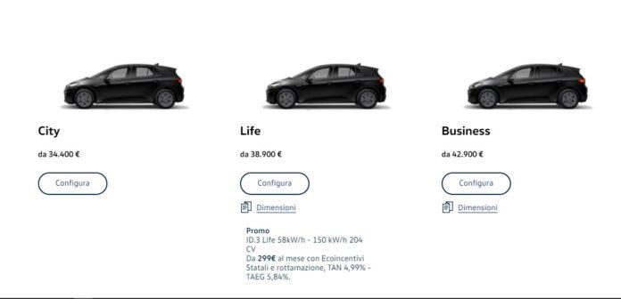 Volkswagen id3 city