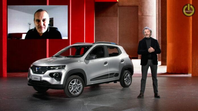 Dacia spring Ev novità